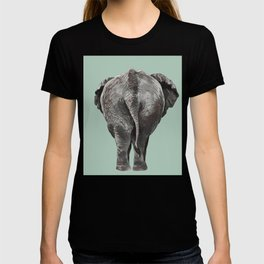 Elephant Butt in Green T-shirt