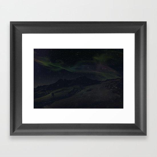 Hoth Northern Lights Framed Art Print