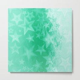 Turquoise Starshine Metal Print