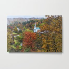 Divine Autumn in New England Metal Print