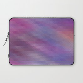 Washed Out Geometric: Purple, Blue, Peach and White Laptop Sleeve
