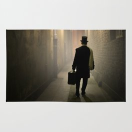 Victorian man with top hat Rug