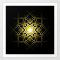 Mandala  -  Yellow Art Print