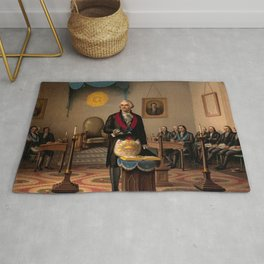 Washington As Master Mason - Anonymous portrait of George Washington. Rug