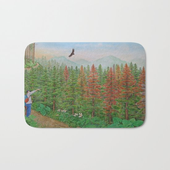 A Day of Forest(8). (coniferous forest) Bath Mat