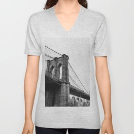 Brooklyn Bridge II Unisex V-Neck