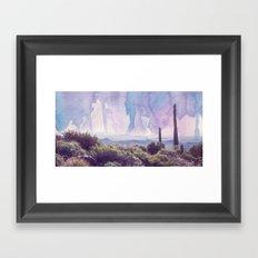 Desert Landscape - Watercolor Sky Framed Art Print