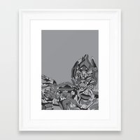 transformers Framed Art Prints featuring Transformers: Megatron by Skullmuffins