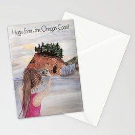 Hugs from the Oregon Coast - Hug Point, Oregon Stationery Cards