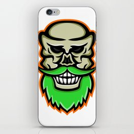Bearded Skull or Cranium Mascot iPhone Skin