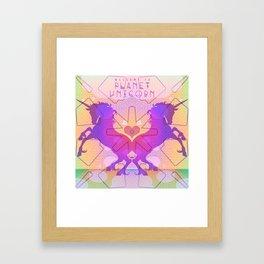 PLANET UNICORN Framed Art Print