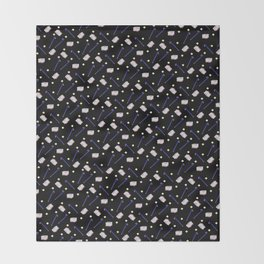 Flowers Crowbar and Sixpack Throw Blanket