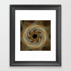 Artistic movement, fractal abstract Framed Art Print