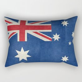 "Australian flag, retro ""folded"" textured version (authentic scale 1:2) Rectangular Pillow"