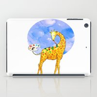 giraffe iPad Cases featuring Giraffe by gunberk