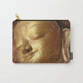 Buddha Head Gold Illustration Carry-All Pouch