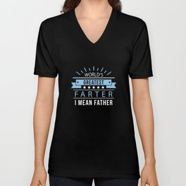 World's Greatest Farter Unisex V-Neck