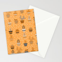 Potted cacti Stationery Cards