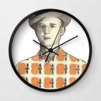 robert farkas Wall Clocks featuring Robert by Rins