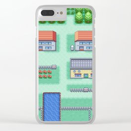 Pallet Town Clear iPhone Case