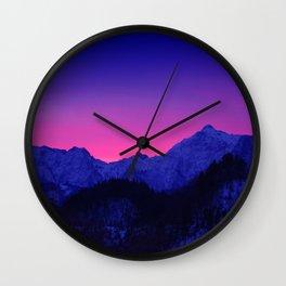 Dawn in Mountains Wall Clock