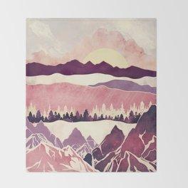 Burgundy Hills Throw Blanket