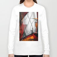 basketball Long Sleeve T-shirts featuring Basketball by Robin Curtiss