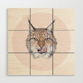 Lynx Lynx portrait Wood Wall Art