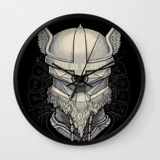 Viking robot Wall Clock