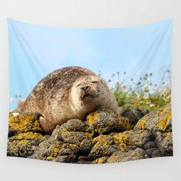 Seal at Dunvegan Castle, Scotland Wall Tapestry