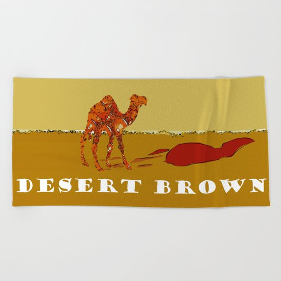 Desert Brown Beach Towel