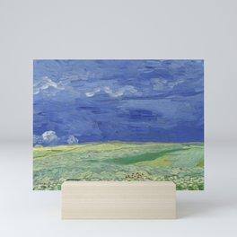 Wheatfield under Thunderclouds Mini Art Print
