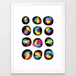 CMYK Stones Framed Art Print