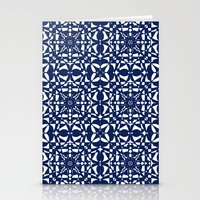 aelwen Stationery Cards featuring Blue by Shelly Bremmer