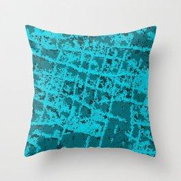 Blue Hippo Skin Throw Pillow