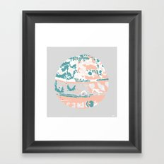 Pastel Pom Pom Framed Art Print