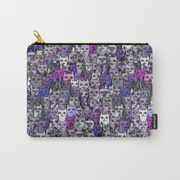Ultraviolet Gemstone Cats Carry-All Pouch