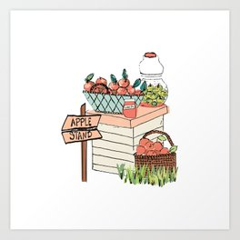 Apple Stand Art Print