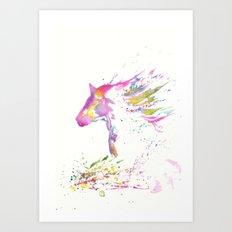 zen horse Art Print