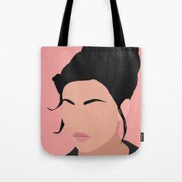 Sonja - a minimal portrait in pink Tote Bag