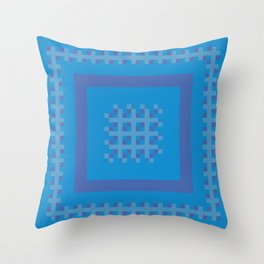 Blue and Purple Boxes Throw Pillow
