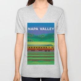 Napa Valley, California - Skyline Illustration by Loose Petals Unisex V-Neck