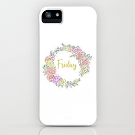 Friday fresh collection golden iPhone Case