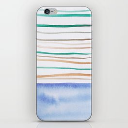 24   |181026 Lines & Color Block | Watercolor Abstract | Modern Watercolor Art iPhone Skin