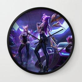 KDA Ahri Akali Evelynn KaiSa Splash Art Wallpaper Background Official Art Artwork League of Legends Wall Clock