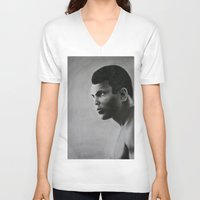 ali gulec V-neck T-shirts featuring Ali by pat langton