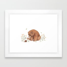 Spring Bear Framed Art Print
