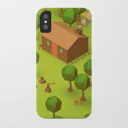 The Cabin (Low Poly Isometric) iPhone Case