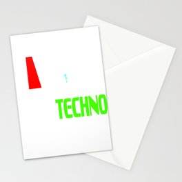 "Stay alert and recharge with this cutie and adorable sleepy tee. Grab this ""Need Techno"" tee now!  Stationery Cards"