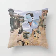 The Unknown Rider in The Man From Warrenville Throw Pillow